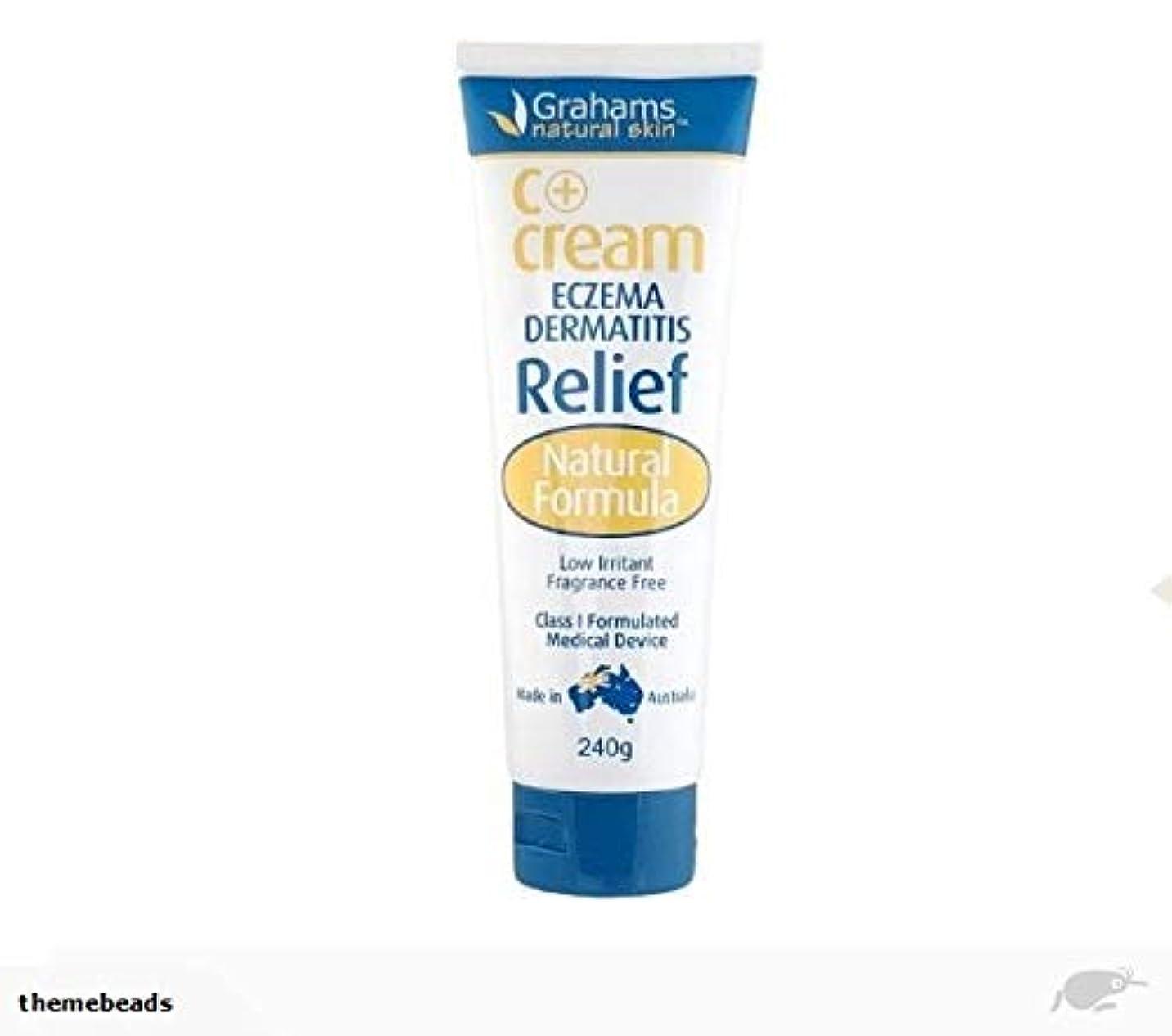 成分時制レコーダー[Grahams] 湿疹 かぶれ肌に C+クリーム 無香料 低刺激 (C+ Cream ECZEMA DERMATITIS Relif) 240g [海外直送品]