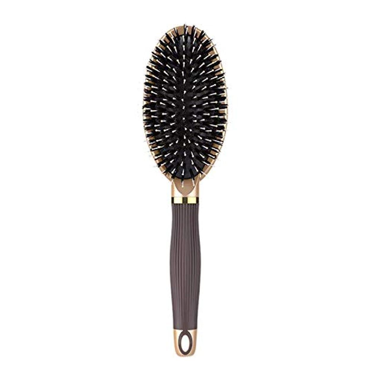 葉を集める神話ファイナンスRETYLY ヘアブラシイノシシ剛毛ヘアブラシと濡れた髪または乾いた髪に最適な作品髪を矯正して滑らかにするためにデザイン 女性&男性用