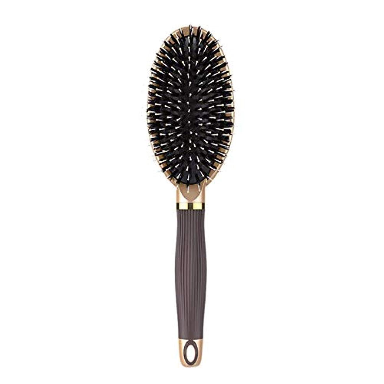 他の場所富イルCUHAWUDBA ヘアブラシイノシシ剛毛ヘアブラシと濡れた髪または乾いた髪に最適な作品髪を矯正して滑らかにするためにデザイン 女性&男性用