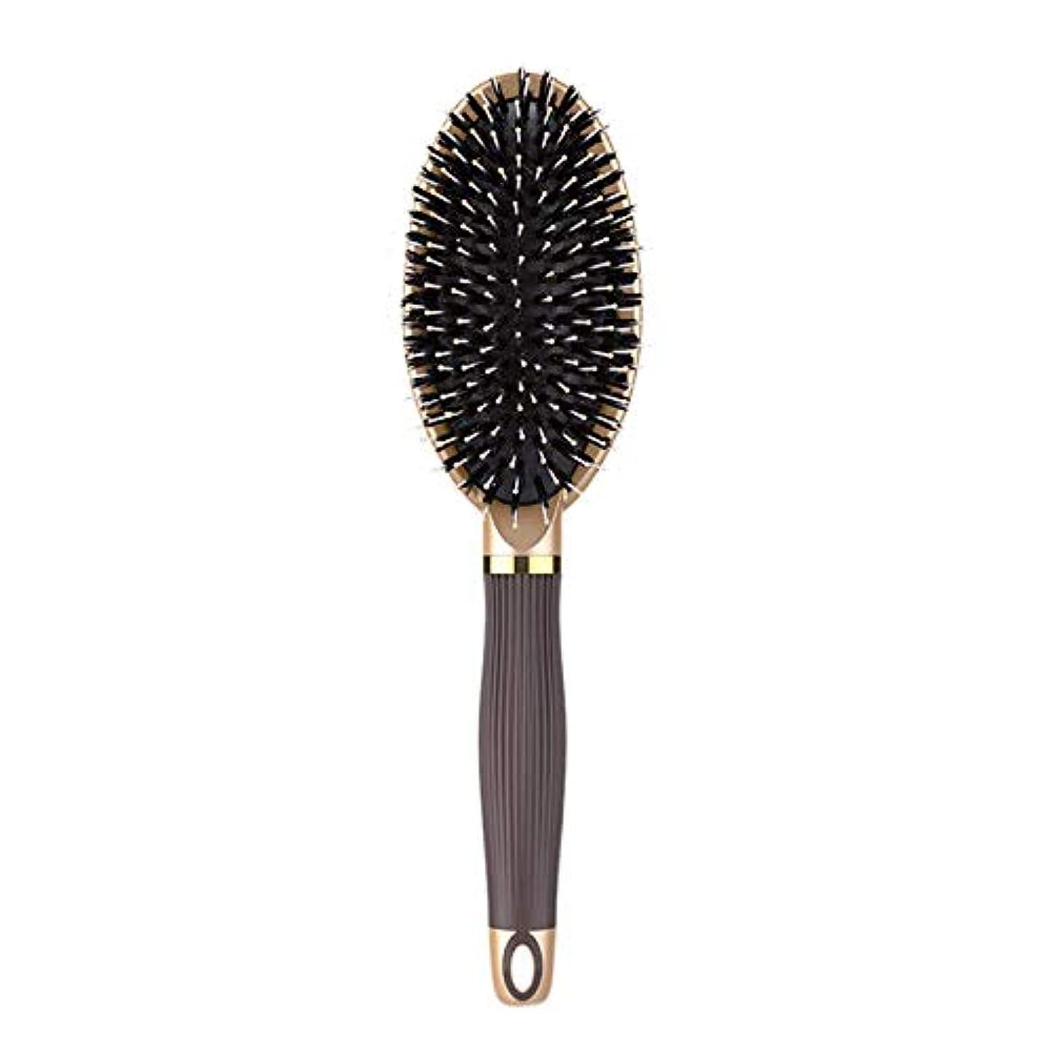 略す維持頭TOOGOO ヘアブラシイノシシ剛毛ヘアブラシと濡れた髪または乾いた髪に最適な作品髪を矯正して滑らかにするためにデザイン 女性&男性用