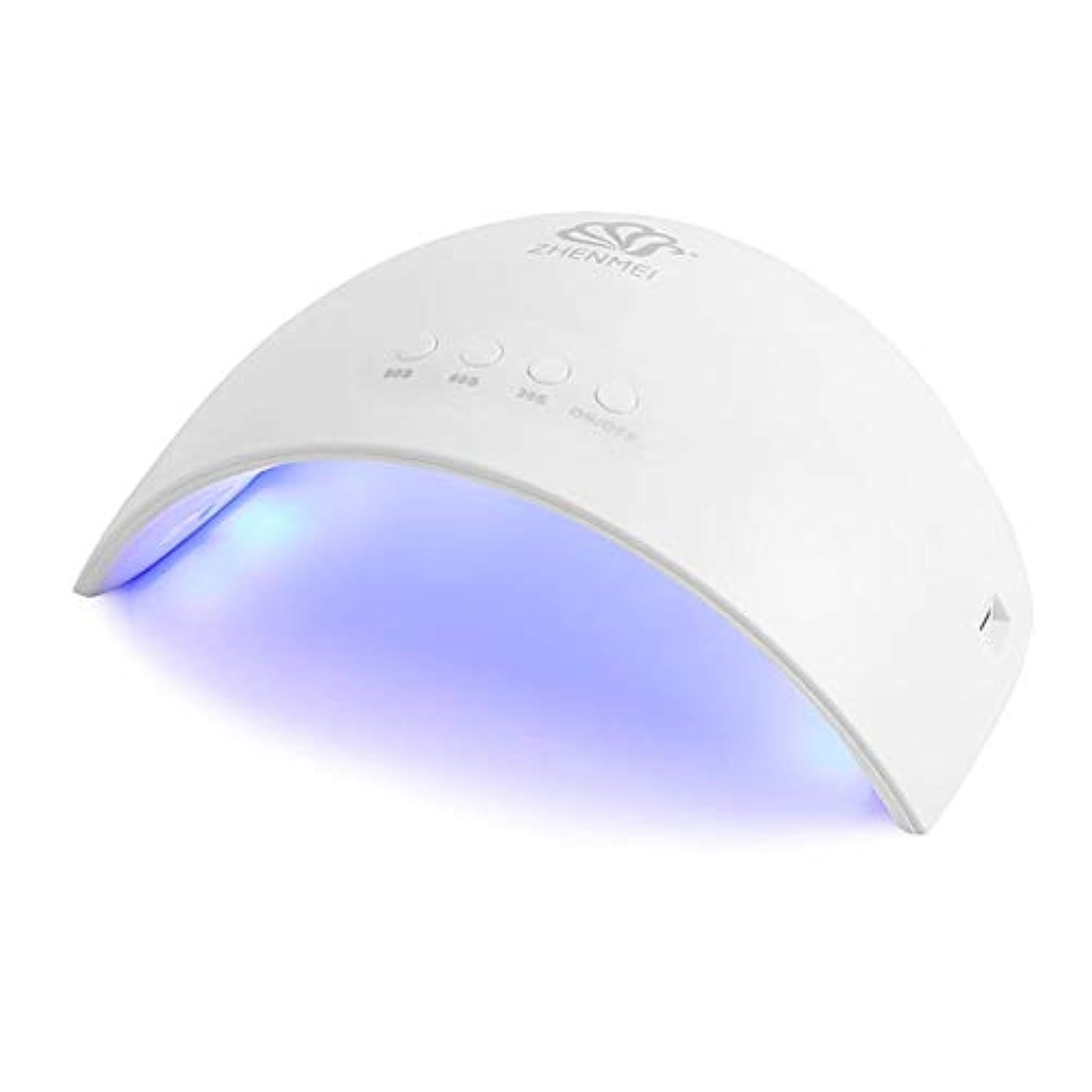 無視有害デッキCheiss UVライト LEDネイルドライヤー ジェルネイルLEDライト 硬化ライト タイマーマニキュア乾燥ツール 爪&足首用 設定可能 折りたたみ 人感センサー式
