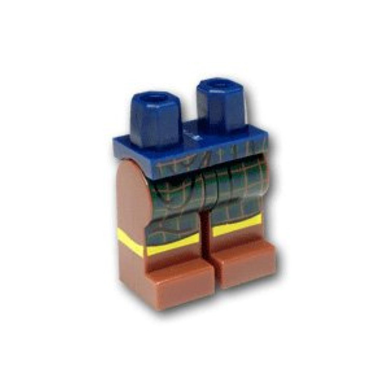 レゴミニフィグパーツ レッグ - ブラウンレッグ ダークグリーンタータンキルト:[Dark Blue / ダークブルー]【並行輸入品】