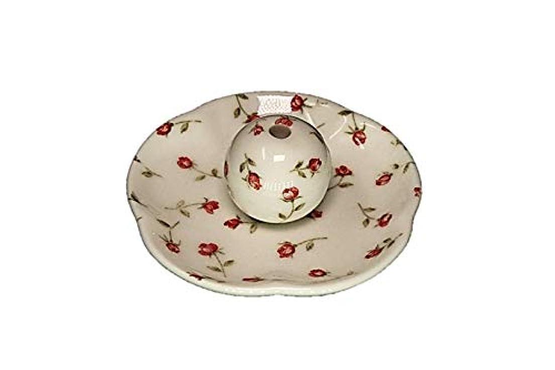 ドラマ納屋側面ローズガーデン 花形香皿 お香立て お香たて 日本製 ACSWEBSHOPオリジナル