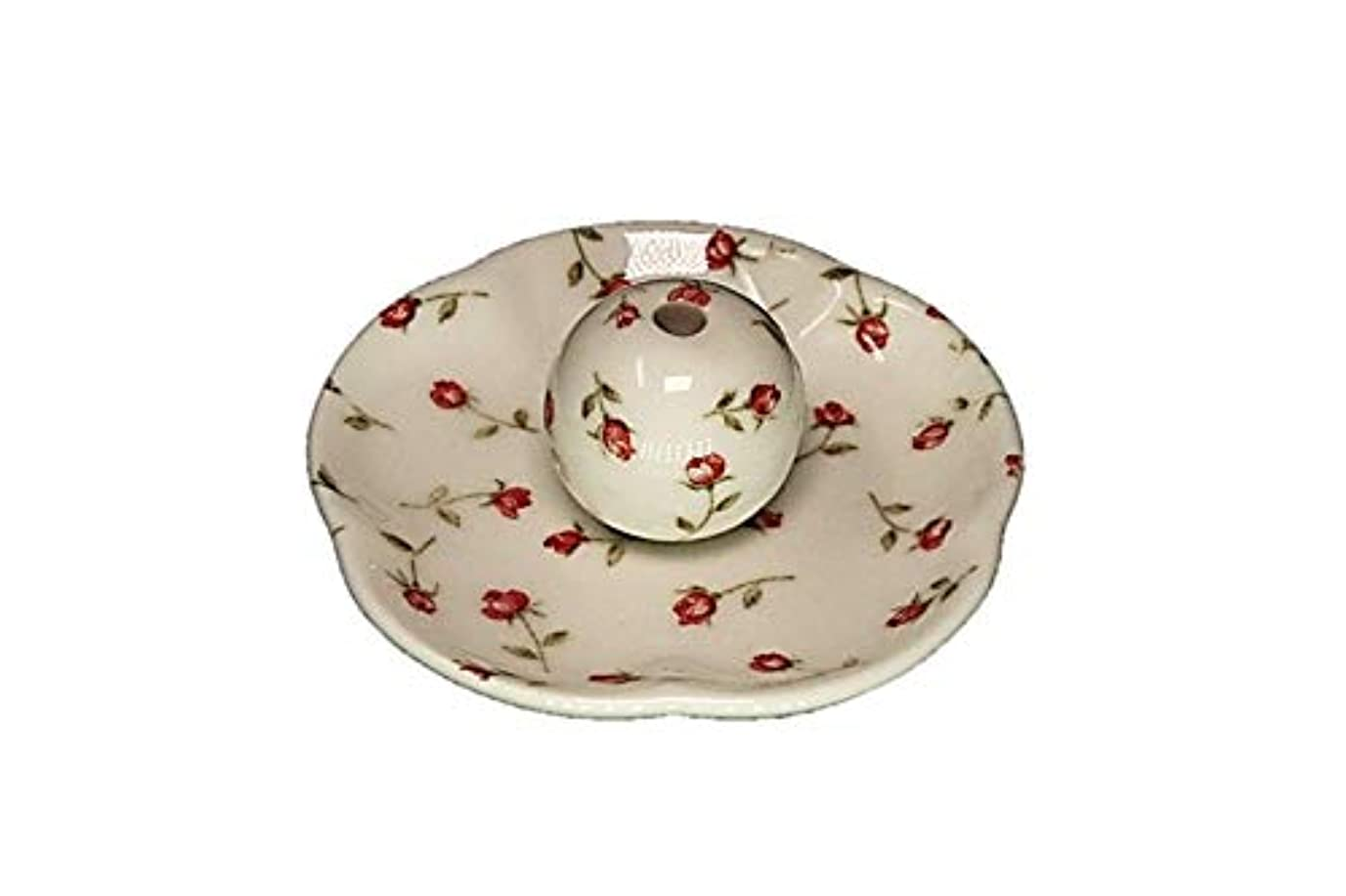 チューリップから聞く起こるローズガーデン 花形香皿 お香立て お香たて 日本製 ACSWEBSHOPオリジナル