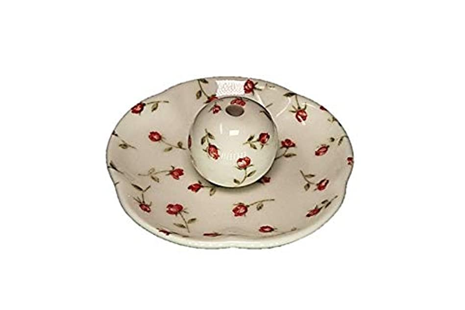 ダイバーチョップ理想的にはローズガーデン 花形香皿 お香立て お香たて 日本製 ACSWEBSHOPオリジナル