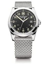 腕時計 ビクトリノックス Victorinox Swiss Army Infantry Black Dial Quartz Men's Watch - 241585【並行輸入品】