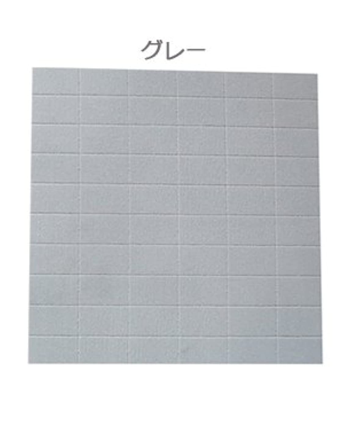 靄のスコア小道具ネイル用ミニブロック60個/2wayスポンジファイル ☆150G/180G (グレー)