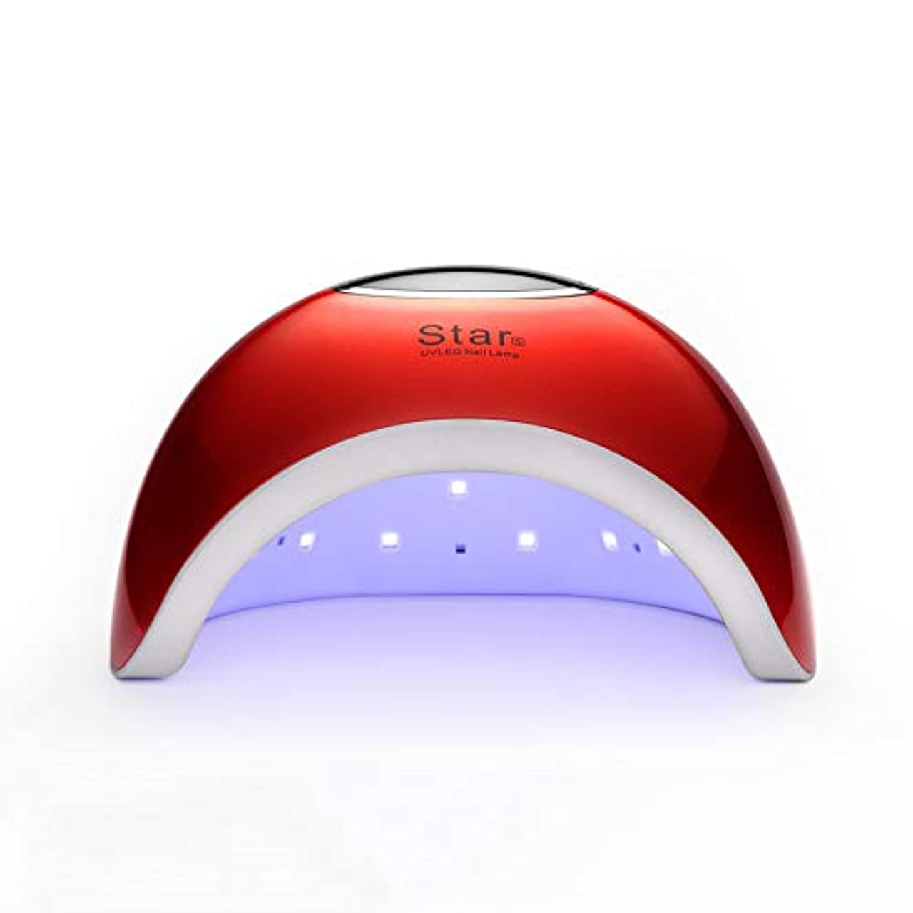 ネイルライト、4種類のタイマー設定およびジェルネイルとトゥーンネイルの硬化用センサーを備えた90W UVネイルドライヤー