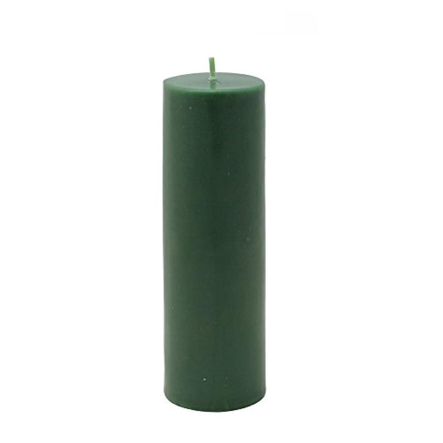 非行エスカレートブラウンZest Candle Pillar Candle, 2 by 6-Inch, Hunter Green [並行輸入品]
