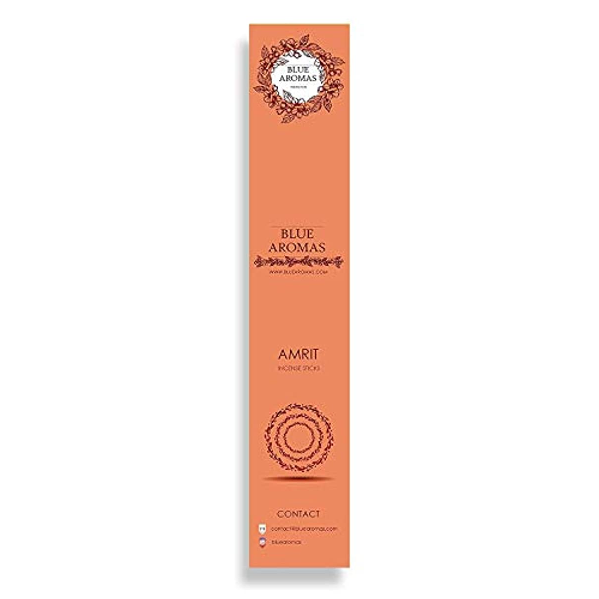 操作可能織機明るくするBlue Aromas Amrit Incense Sticks Agarbatti |Pack of 8, 10 Sticks in Each Pack Incense | Export Quality