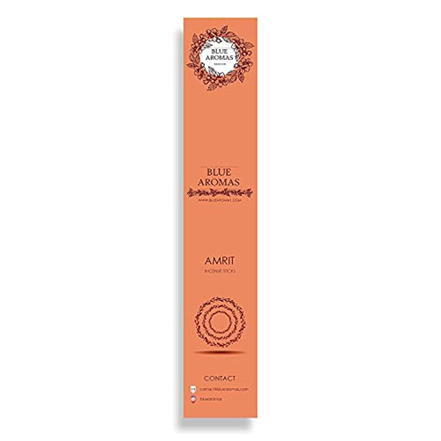 あそこ抵抗する真面目なBlue Aromas Amrit Incense Sticks Agarbatti  Pack of 8, 10 Sticks in Each Pack Incense   Export Quality