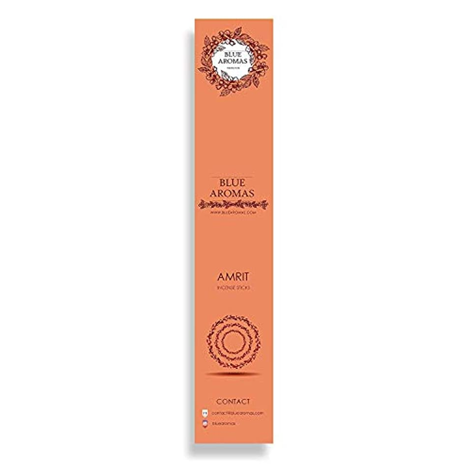 粘り強いマイナスキャビンBlue Aromas Amrit Incense Sticks Agarbatti |Pack of 8, 10 Sticks in Each Pack Incense | Export Quality