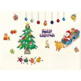クリスマス 装飾 ソリに乗った サンタクロース ウォールステッカー 子供部屋等に