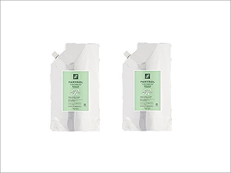 アクセルスリチンモイ容器パミロール レギュラーシャンプー1000mlパウチ 2袋セット