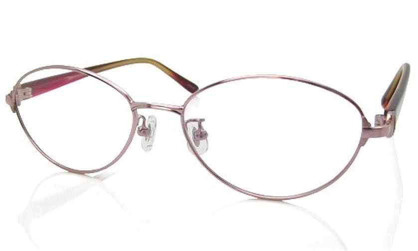 遠近両用メガネ (RSN) レディースクラシック 遠近両用メガネ (ピンク×レッド)[全額返金保証]? 女性用 遠近両用メガネ 老眼鏡 シニアグラス (瞳孔間距離:女性平均60-62mm, 近用度数(書類):+1.5)