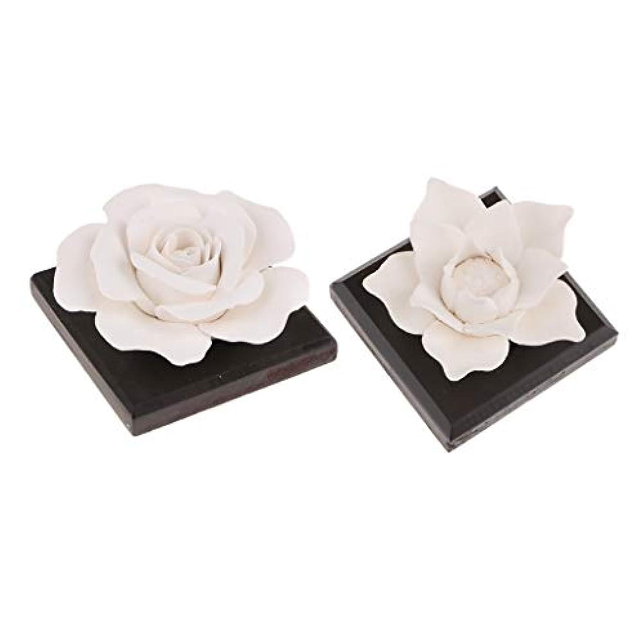 酒コジオスコ優先B Baosity 2個 セラミック 花 エッセンシャルオイル 香水 香り ディフューザー 空気清浄 装飾