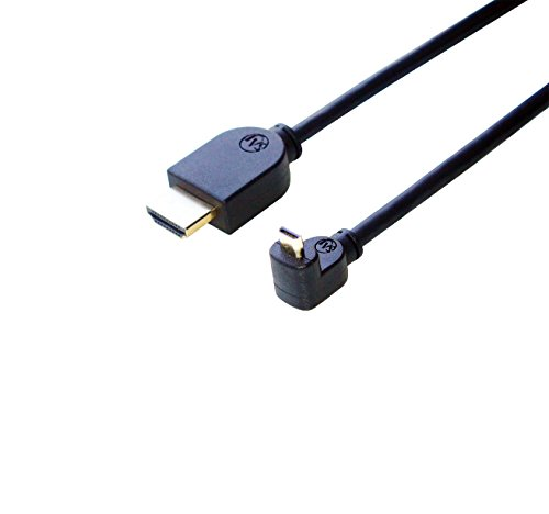 HDMI Micro HDMI 변환 케이블 한 쪽L형(하향) 2m Ver1.4 이더넷,3D,풀HD대응-