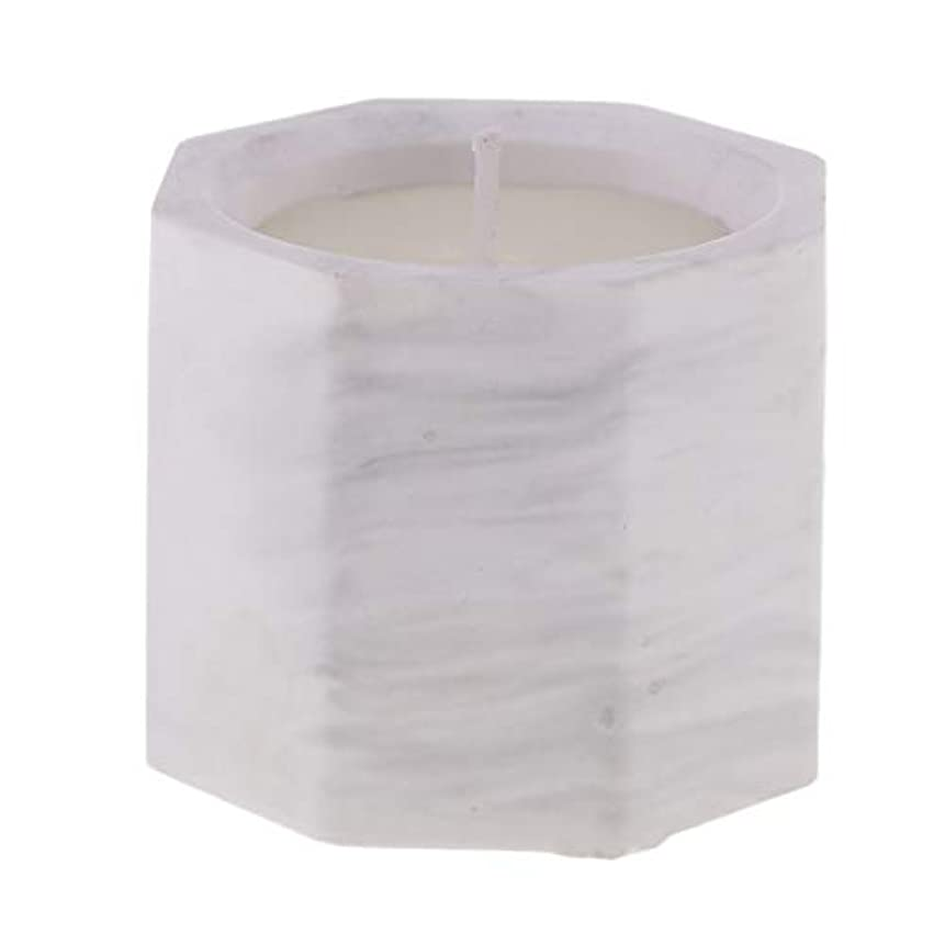 コンクリートオープニング生き残りアロマキャンドル オクタゴン形 香りキャンドル 友人用 誕生日用 家族用 約58mm