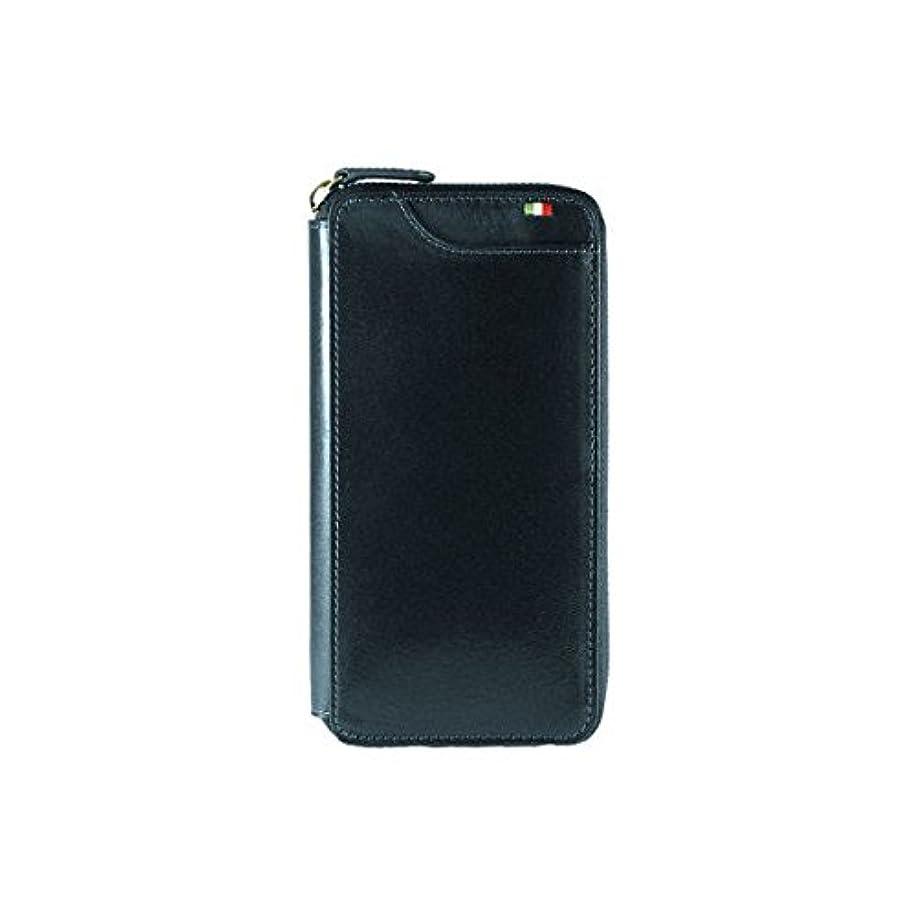 セーター電卓化石Milagro ミラグロ タンポナートレザー ラウンドファスナー 長財布 ギャルソンウォレット イタリア製ヌメ革 ネイビー CA-S-2261-NV