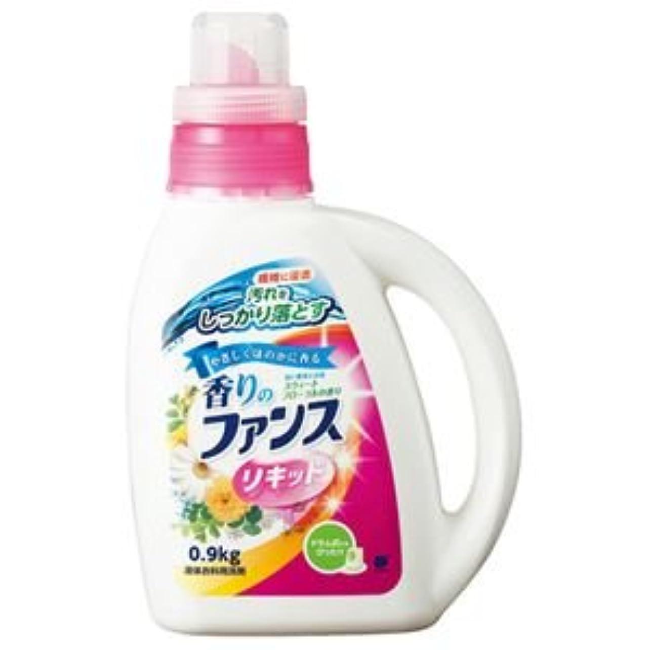 一生大声でシンプルな(まとめ) 第一石鹸 香りのファンス 液体衣料用洗剤リキッド 本体 0.9kg 1本 【×10セット】