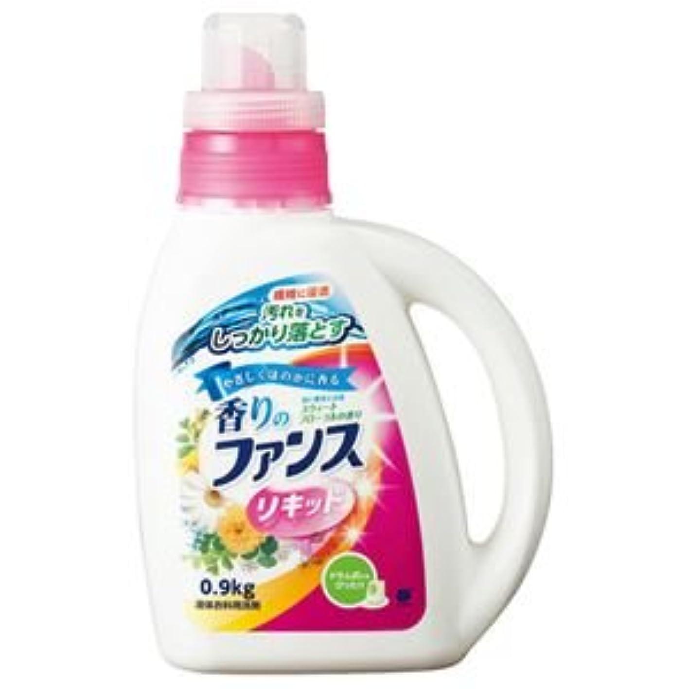 シングルホーンマトン(まとめ) 第一石鹸 香りのファンス 液体衣料用洗剤リキッド 本体 0.9kg 1本 【×10セット】