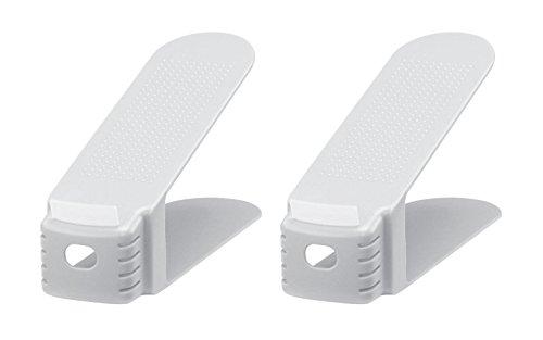 like-it 靴ホルダー スリム 2個入 ホワイト 幅8×奥26×高13.5cm SHS-01
