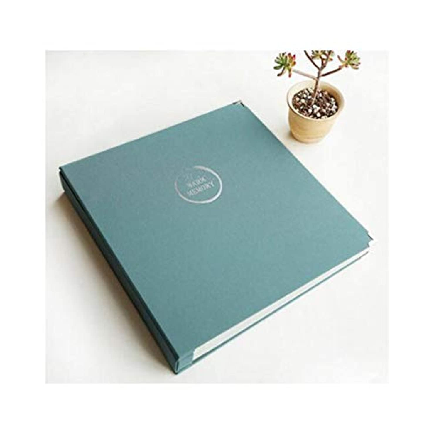 交流する雪マナーHANGQINGHENG 6インチ7インチ8インチ10インチ混合シンプル、新鮮、格子間の家族のフォトアルバム、アルバムの大、大容量の5インチ (Color : Light Blue)