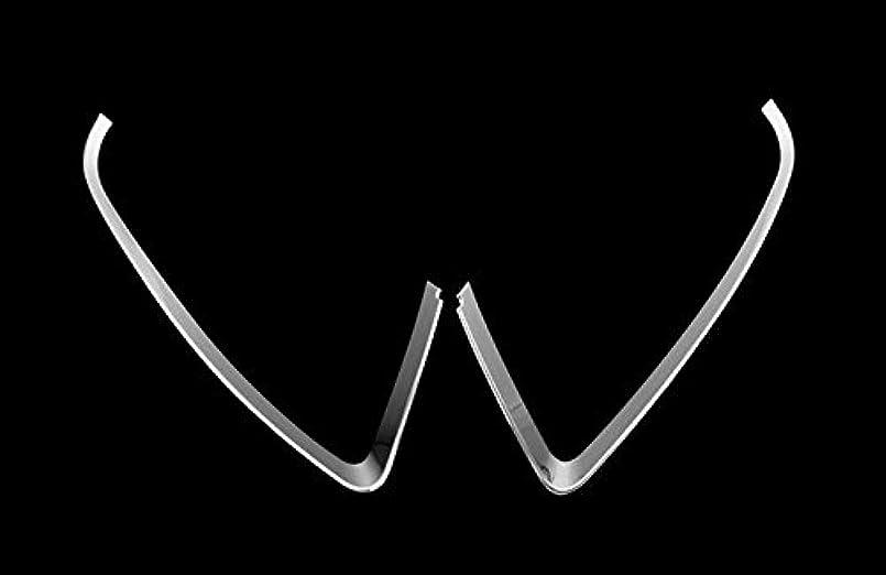 尊厳暗い愛国的なJicorzo - ジープコンパス2011-2015カーエクステリアアクセサリースタイリングのために車のヘッドライト、フロントライトランプまぶたカバートリム2PCSフィット
