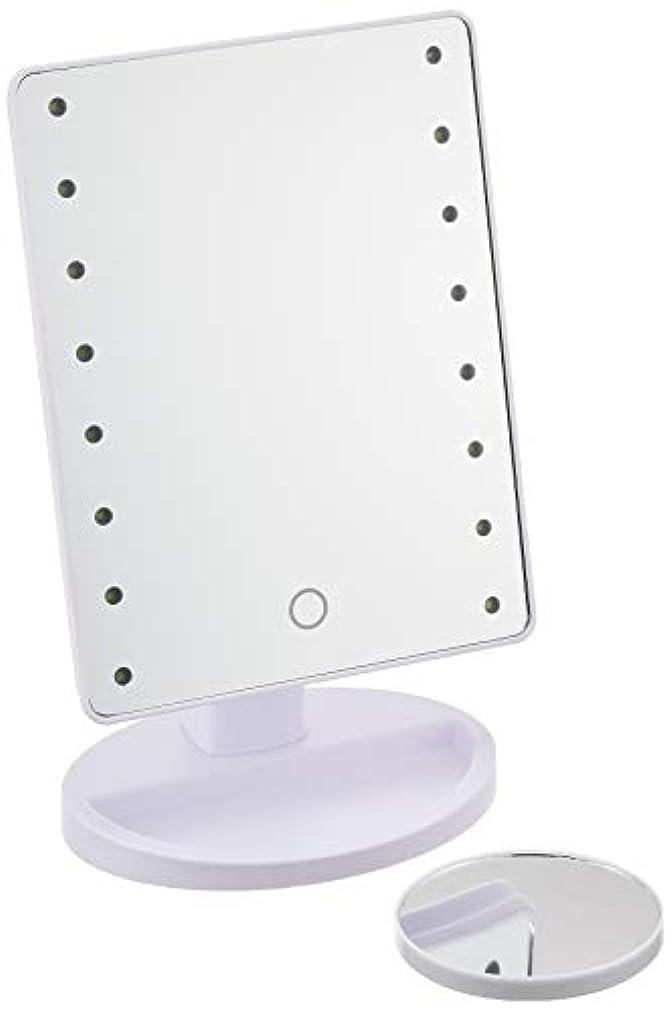 ワークショップ回転するデクリメントHAC ハック 16LED拡大鏡付きメイクアップミラー