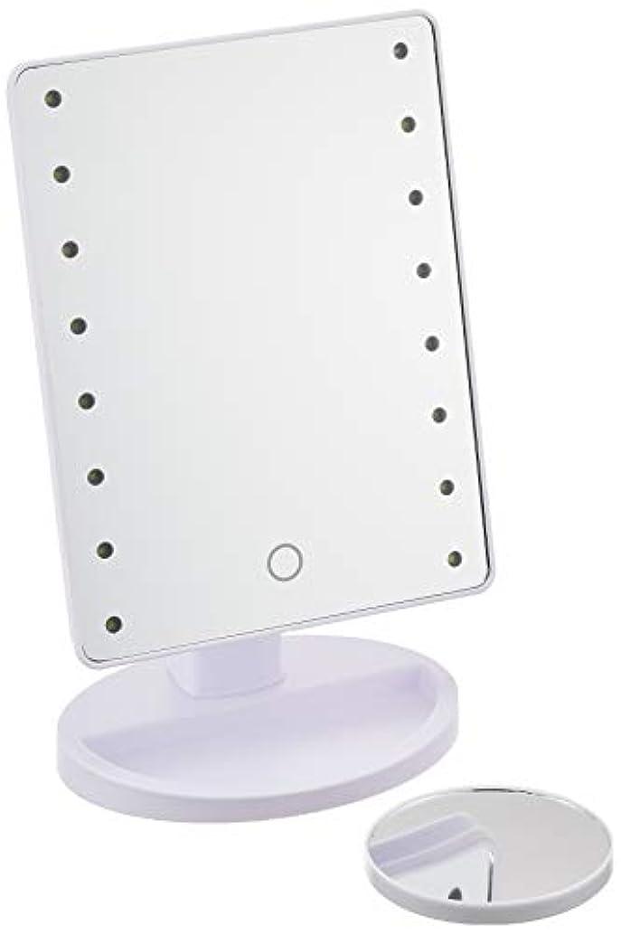 まあ名詞中国HAC ハック 16LED拡大鏡付きメイクアップミラー