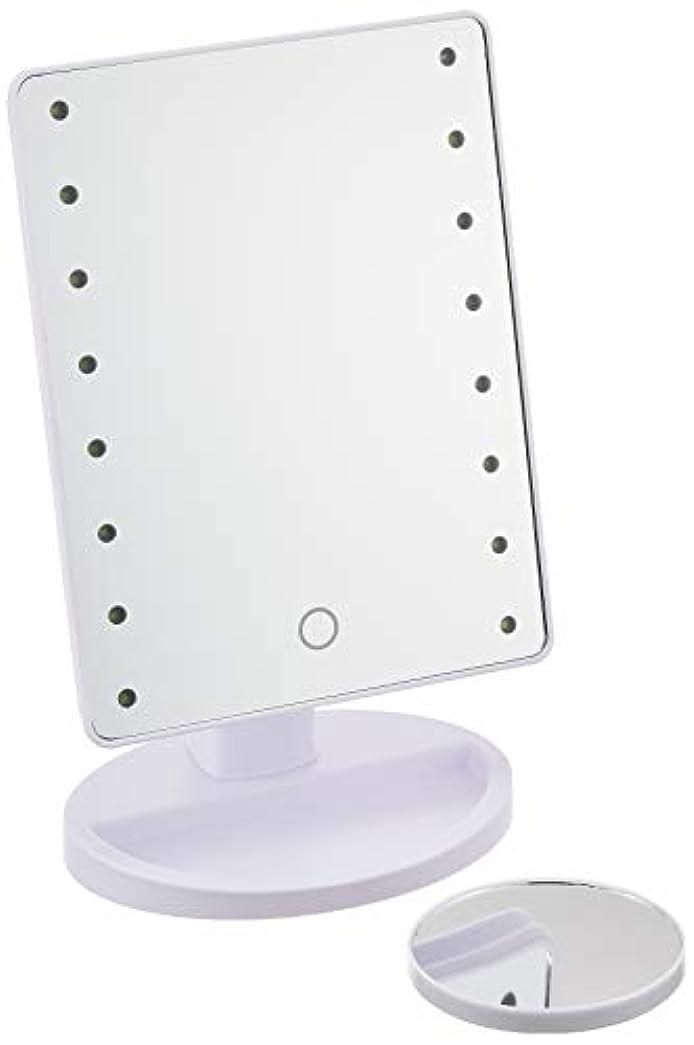 してはいけませんしてはいけない統治するHAC ハック 16LED拡大鏡付きメイクアップミラー