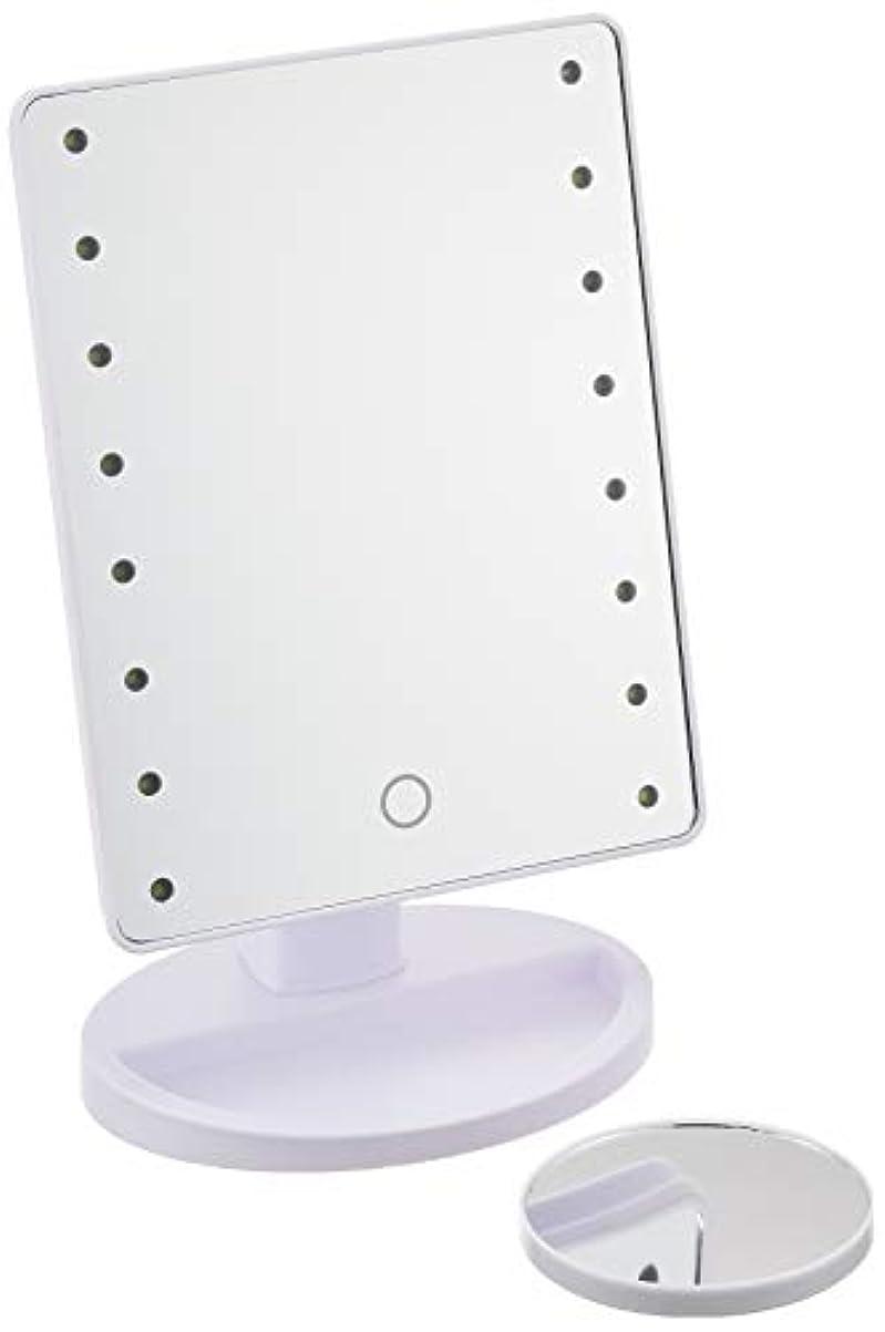 コーデリアドレス処理するHAC ハック 16LED拡大鏡付きメイクアップミラー
