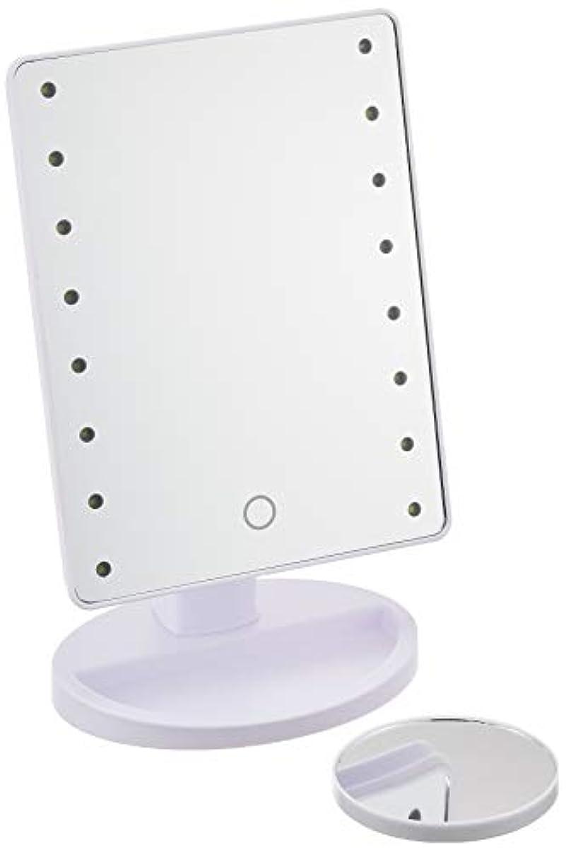 オンス増幅する感動するHAC ハック 16LED拡大鏡付きメイクアップミラー