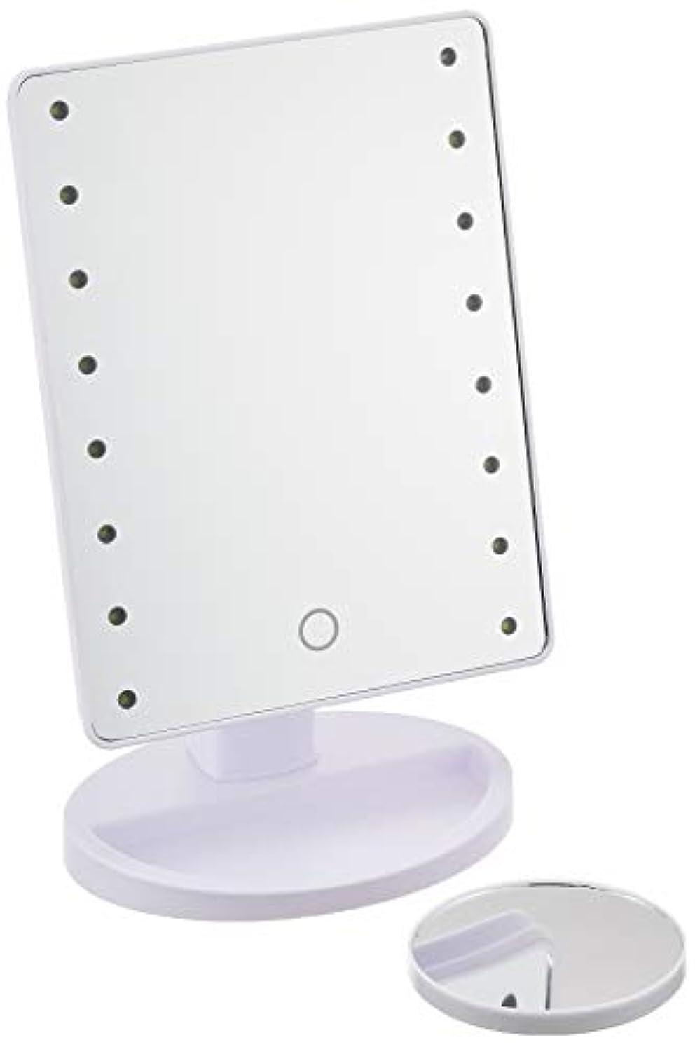 アドバイス国展開するHAC ハック 16LED拡大鏡付きメイクアップミラー