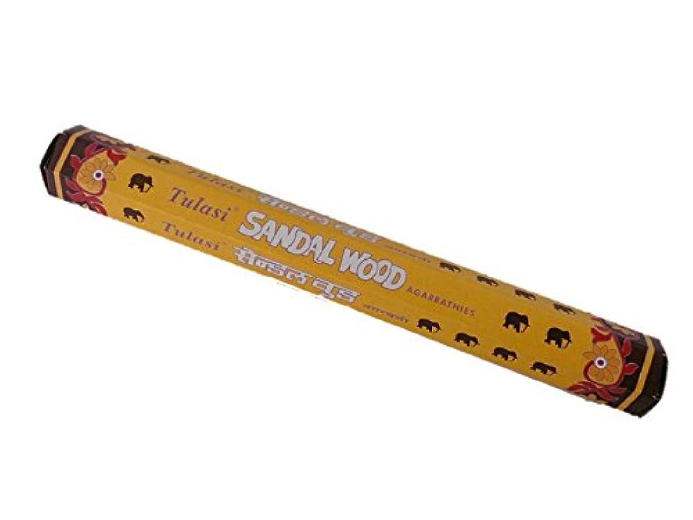 伝染性晩ごはん貴重なTulasi(トゥラシ) お香:サンダルウッド スティックお香/インセンス/1箱