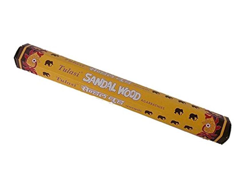 火薬援助するアクセントTulasi(トゥラシ) お香:サンダルウッド スティックお香/インセンス/1箱