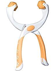 つまんdeペンチ ツボ押し【足用】 オレンジ ポーチ付き「職場で使える軽くて持ち運べるマッサージ機」