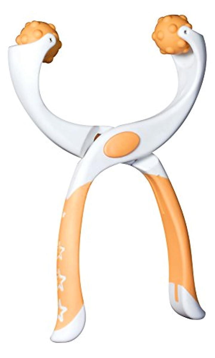 それぞれ余韻吸収するつまんdeペンチ ツボ押し【足用】 オレンジ ポーチ付き「職場で使える軽くて持ち運べるマッサージ機」