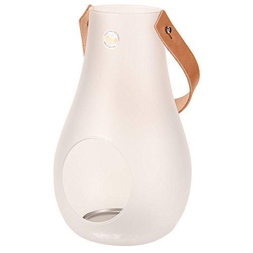 HOLMEGAARD [ ホルムガード ] DESIGN WITH LIGHT Lantern Clear デザイン ウィズ ライト ランタン (M) Frosted フロスト 4343507 キャンドルホルダー テーブルランプ 北欧雑貨並行輸入品 [並行輸入品]