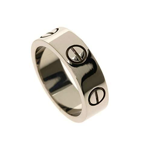 [カルティエ]ラブリング #48 リング・指輪 K18ホワイトゴールド レディース (中古)