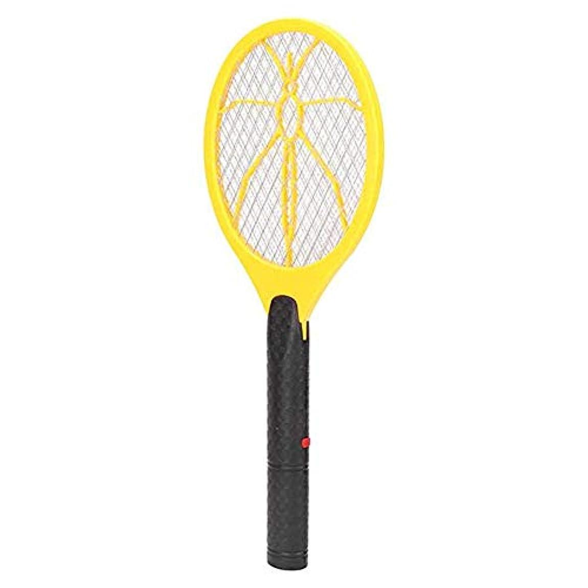鉱石フレッシュによって電子蚊ハエたたきバッテリー駆動昆虫ザッパーハエラケットラケット充電式蚊ハエキラーイエロー