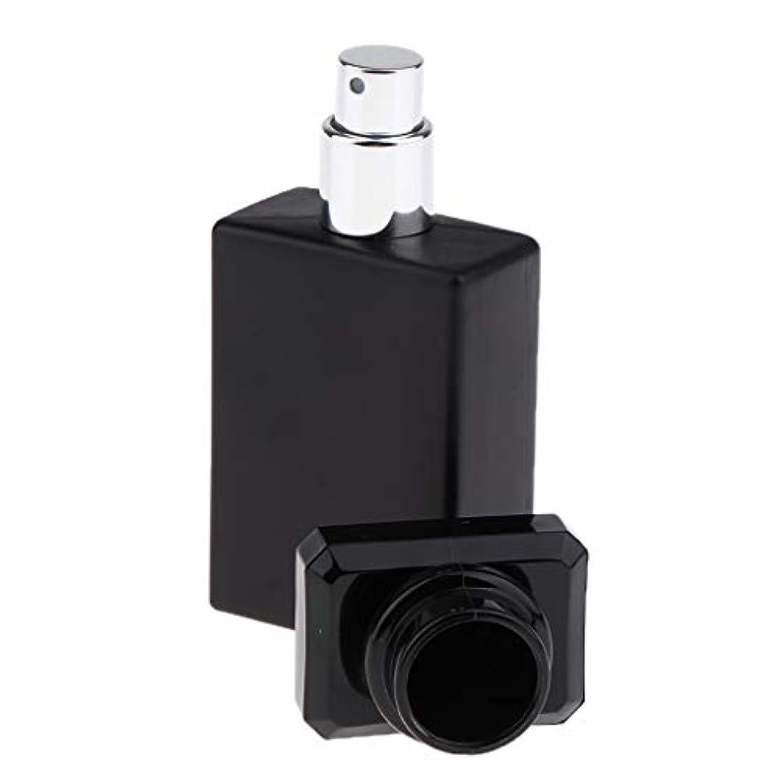 光沢のあるハイランド高度なSM SunniMix 香水ガラス瓶 ガラスボトル 香水瓶 アトマイザー 空のボトル スプレーボトル 化粧品ボトル 全2色選ぶ - ブラック