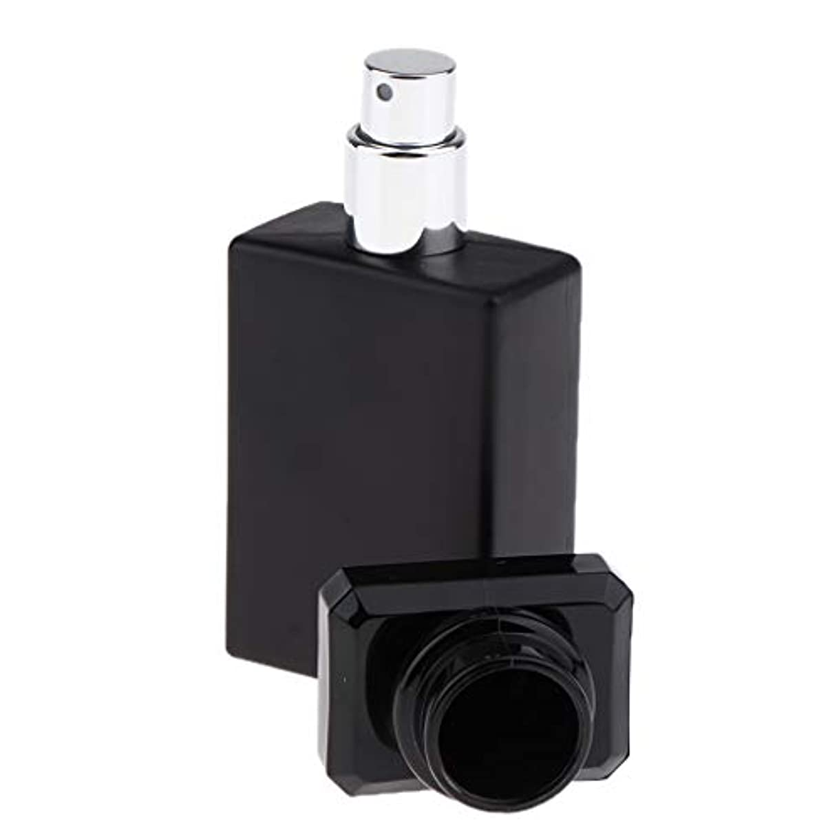 憂鬱クロール無条件SM SunniMix 香水ガラス瓶 ガラスボトル 香水瓶 アトマイザー 空のボトル スプレーボトル 化粧品ボトル 全2色選ぶ - ブラック