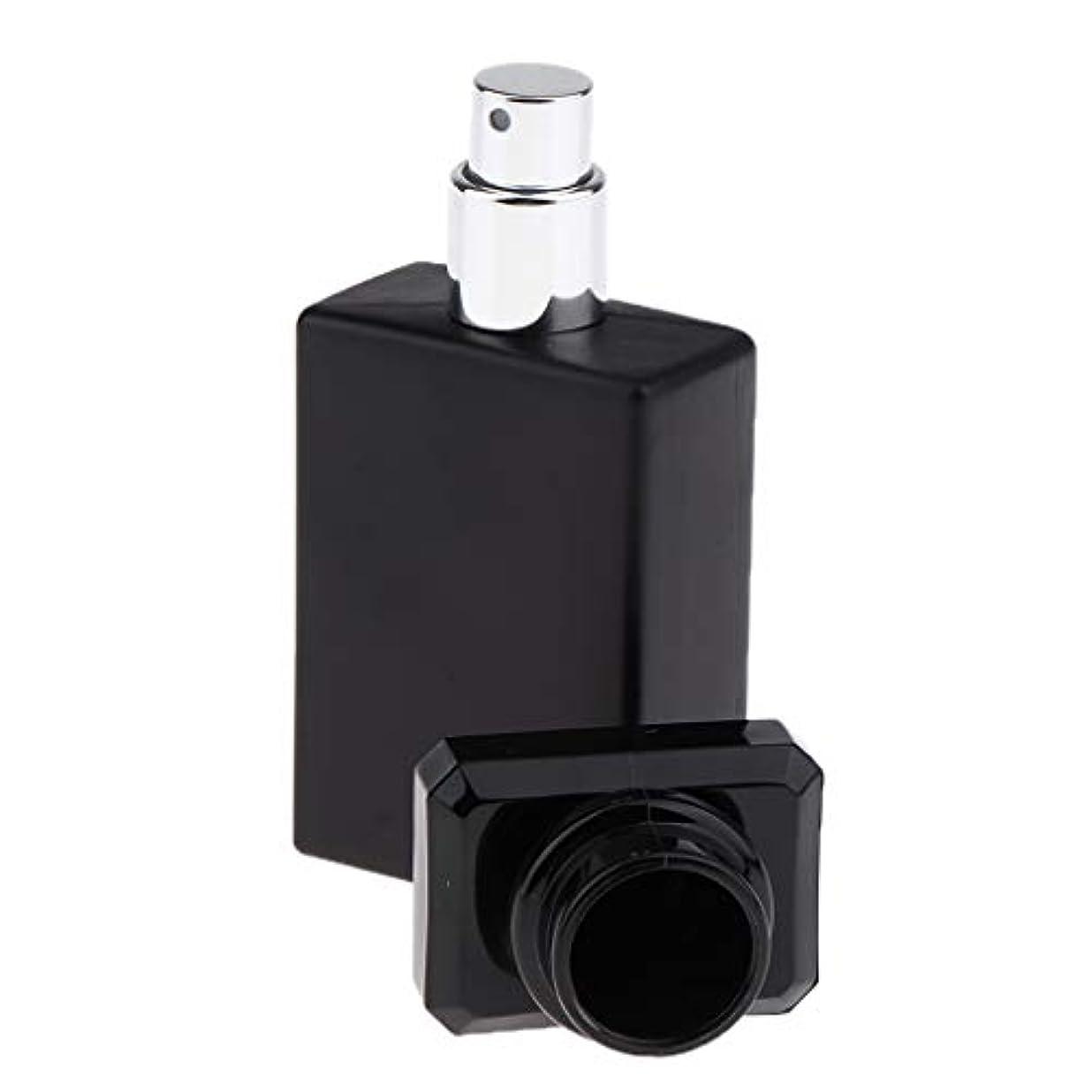 戦闘恩恵細いSM SunniMix 香水ガラス瓶 ガラスボトル 香水瓶 アトマイザー 空のボトル スプレーボトル 化粧品ボトル 全2色選ぶ - ブラック