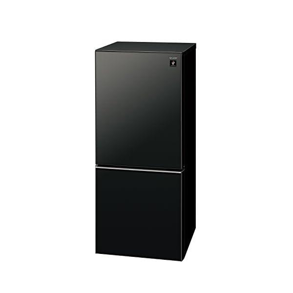シャープ 冷蔵庫 小型 2ドア 高品位ガラスド...の紹介画像2