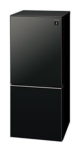 シャープ 冷蔵庫 小型 2ドア 高品位ガラスドア採用 プラズマクラスター搭載 137L ピュアブラック SJ-GD14C-B