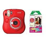 FUJIFILM インスタントカメラ チェキ instax mini 25 レッド フィルムセット INS MINI 25 RED FilmSet
