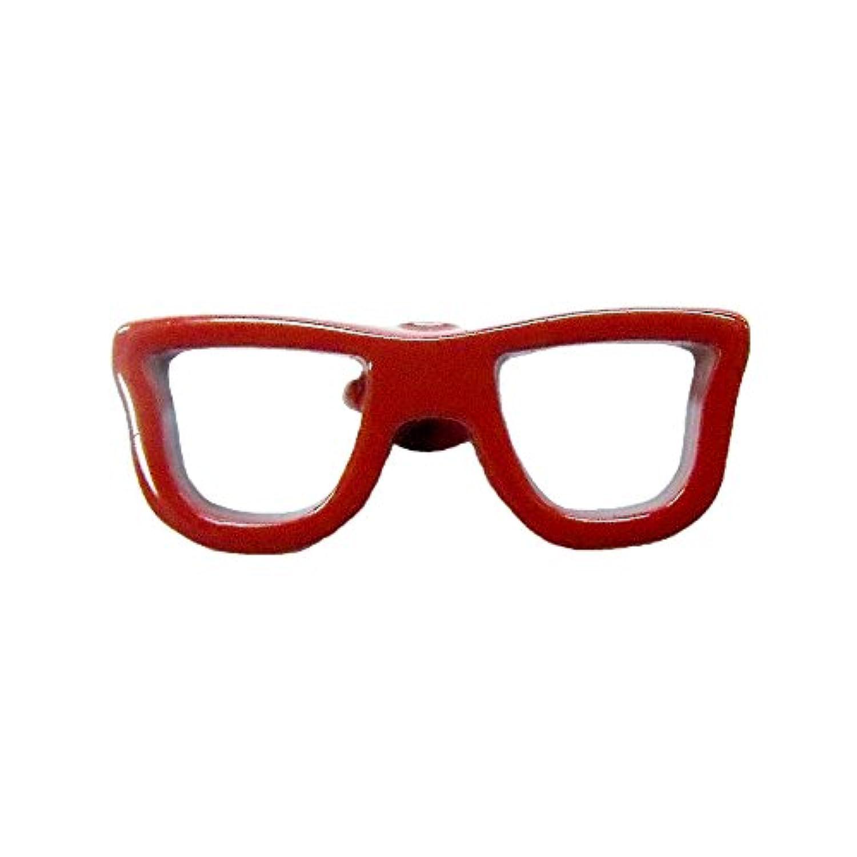 ピンバッジ メガネ おしゃれ かわいい ブローチ 英国デザイン