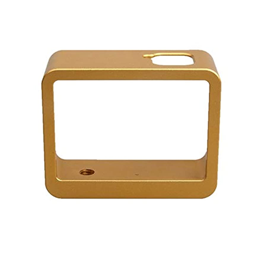 争う意気込みアイデアRAOFEIJP カメラ保護ケース 耐衝撃保護ケース GoPro HERO6ブラック/ HERO5ブラック/ HERO7ブラック用のアルミ合金ボーダーフレームマウント保護ハウジングケースカバー (色 : Gold)