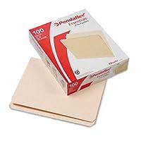 Pendaflex Essentials 752ファイルフォルダ、ストレートカット、Topタブ、手紙、マニラ、100/ボックス